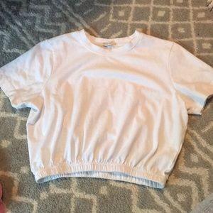 White cropped shirt